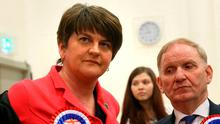 DUP leader Arlene Foster is under pressure from Sinn Féin. Photo: Brian Lawless/PA Wire