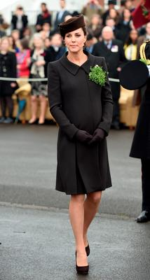 Kate attends a St Patrick's Day ceremony with the Irish Guards.