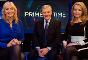 Prime Time hosts Miriam O'Callaghan, Pat Kenny and Claire Byrne. Photo: RTE