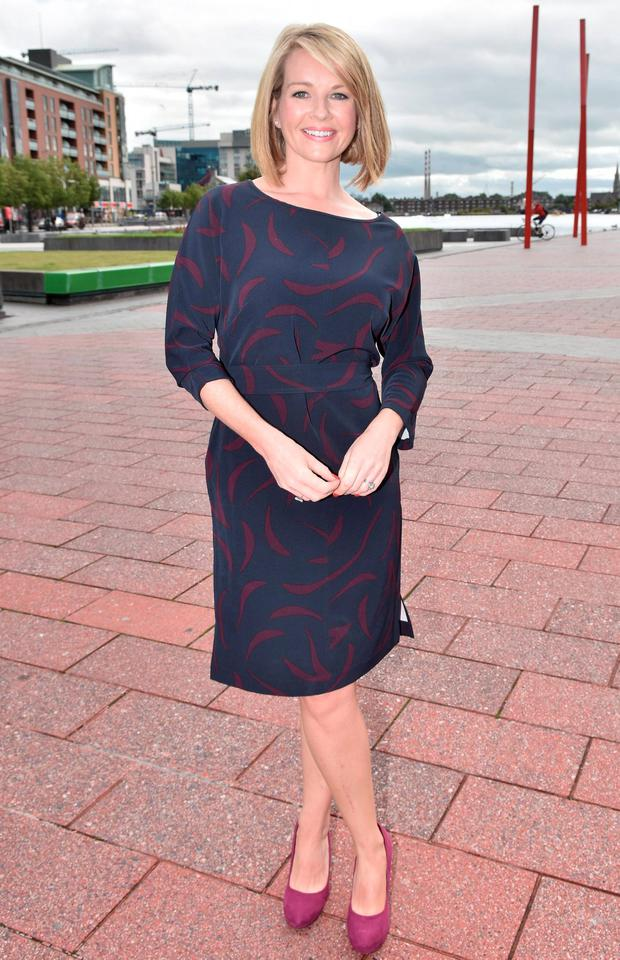 Claire Byrne at the RTE new season launch at Grand Canal Dock. Picture: Cathal Burke / VIPIRELAND.COM