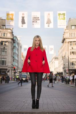 She was unveiled as the 'face' of London Fashion Week before the stylish event kicked off