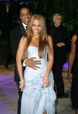 Beyonce and Jay-Z during 2005 Vanity Fair Oscar Party