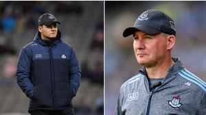 Former Dublin forward Paddy Quinn thinks Dessie Farrell (left) and Jim Gavin are cut from the same cloth.