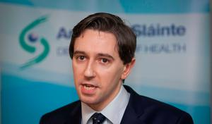 Minister for Health Simon Harris TD speaking to media