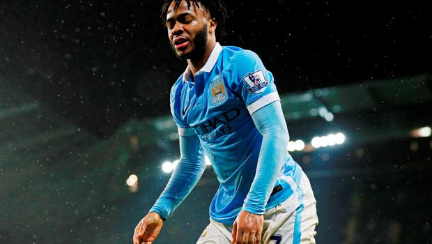 Sterling went down under a challenge from John Stones in injury time: Action Images via Reuters / Jason Cairnduff