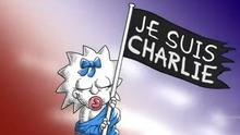 The Simpsons pay tribute to Charlie Hebdo