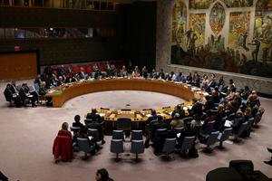 Big decisions: The United Nations Security Council meets at UN headquarters in New York City. Photo: REUTERS/Carlo Allegri/File Photo