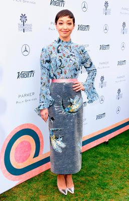 Actress Ruth Negga attends Variety's Creative Impact Awards and 10 Directors to Watch Brunch presented by Mercedes-Benz at the 28th Annual Palm Springs International Film Festival at the Parker Palm Springs on January 3, 2017 in Palm Springs, California.  (Photo by Vivien Killilea/Getty Images for Palm Springs International Film Festival )