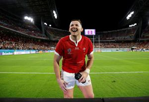 Rugby Union - Rugby World Cup 2019 - Pool D - Wales v Georgia - City of Toyota Stadium, Toyota, Japan - September 23, 2019  Wales' Dillon Lewis celebrates after the match       REUTERS/Issei Kato