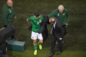 GREEN CAREER: Sean Maguire goes off injured whilst playing against Northern Ireland. Photo by Eóin Noonan/Sportsfile