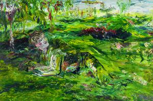 Jack B. Yeats' 'In Tír Na Nóg', oil on canvas, 1936, Estimated at between £300,000 and £500,000 (€337,000 and €561,000)