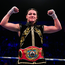 Katie Taylor celebrates following her WBO Women's Super-Lightweight World title fight against Christina Linardatou at the Manchester Arena in Manchester, England. Photo by Stephen McCarthy/Sportsfile