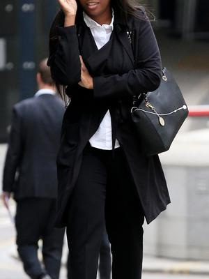 Comfort Yinusa arrives at the Old Bailey, London, where she was due to be sentenced after she pleaded guilty to perverting the course of justice by making a false rape allegation to the police between October 25 2013 and January 3 2014. PRESS ASSOCIATION Photo. Picture date: Friday June 19, 2015. See PA story COURTS Rape. Photo credit should read: Jonathan Brady/PA Wire