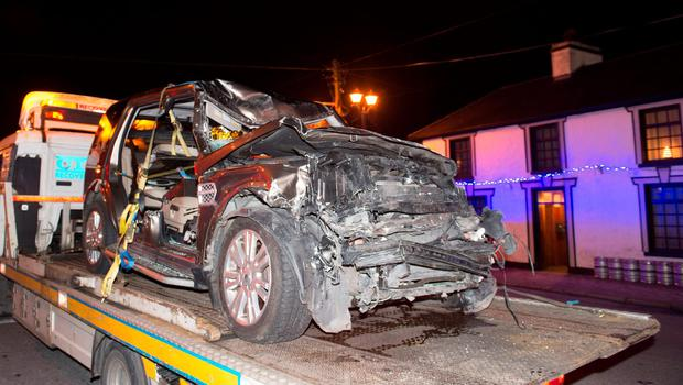 The mother's car after crash