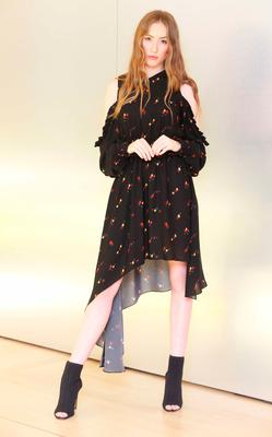 Sophie Murphy wears Magda Butrym dress €1,305 as she showcased the exciting new spring summer International Designer Collections at Brown Thomas. Picture: Leon Farrell / Photocall Ireland