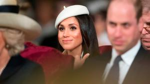 Meghan Markle attends the Commonwealth Service at Westminster Abbey on March 12, 2018 in London, England