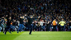 Aston Villa fans invade the pitch Reuters / Darren Staples