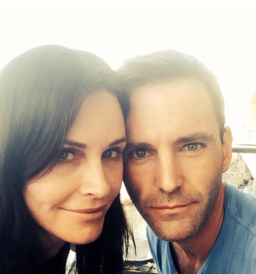 Courteney Cox and Johnny McDaid.