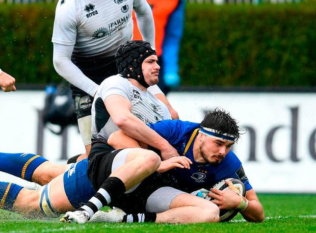 Two tries: Max Deegan. Photo: Ramsey Cardy/Sportsfile
