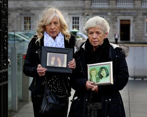 Campaign: Antoinette Keegan (left) with her mother Christine Keegan, who died aged 84 this week. Photo: Tom Burke