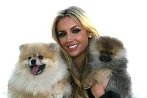 Beautiful bride-to-be Rosanna Davison braved the cold weather with her pooches Ted and Leo to promote ISPCA's Wedding Favours as an alternative to traditional chocolates.  ISPCA Wedding Favours are a lovely idea for couples who want to do something a little bit different, and personal, on their wedding day.