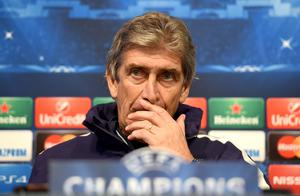 Manchester City manager Manuel Pellegrini speaks during a press conference at the Etihad Stadium, Manchester