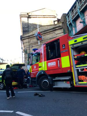 Emergency services attending an incident at Parsons Green station in west London amid reports of an explosion. Richard Aylmer-Hall/PA Wire