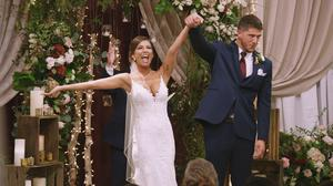 Amber Pike and Matt Barnett got married on Love Is Blind (Netflix/PA)