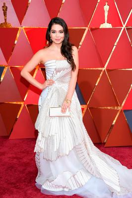 Actor Auli'i Cravalho attends the 89th Annual Academy Awards at Hollywood & Highland Center on February 26, 2017 in Hollywood, California.  (Photo by Kevork Djansezian/Getty Images)