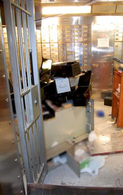 "A handout photo received from the British Metropolitan Police Service in London on April, 22, 2015, shows discarded safety deposit boxes in the vault of a safe deposit centre in Hatton Garden, London, where an estimated ?200 million worth of diamonds and jewellery were stolen between April 2 and April 5, 2015. Burglars broke into a vault at a safe deposit centre in Hatton Garden, where many jewellers had left their stocks over the long Easter weekend, and cracked open 70 secure boxes, the police said. AFP PHOTO / BRITISH METROPOLITAN POLICE  RESTRICTED TO EDITORIAL USE - MANDATORY CREDIT  "" AFP PHOTO / BRITISH METROPOLITAN POLICE ""  -  NO MARKETING NO ADVERTISING CAMPAIGNS   -   DISTRIBUTED AS A SERVICE TO CLIENTS-/AFP/Getty Images"