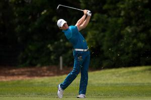 Rory McIlroy hits from the first fairway during the final round of the Arnold Palmer Invitational presented by MasterCard at Bay Hill Club & Lodge