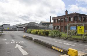 Shutdown: The Kildare Chilling meat processing plant in Kildare town suspended operations after 80 workers at the plant tested positive for Covid-19. Photo: Colin Keegan