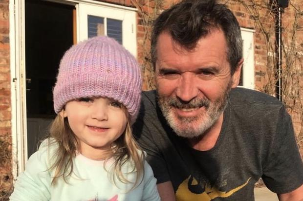 Roy Keane and his granddaughter on Instagram