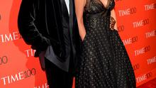 Honoree Kanye West and wife Kim Kardashian attend the TIME 100 Gala. (Photo by Evan Agostini/Invision/AP)