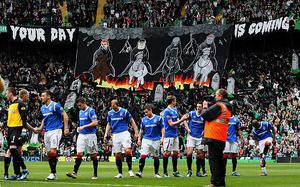 The Old Firm game between Celtic and Rangers in April 2012 was the last time they met