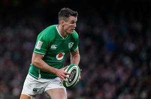 Johnny Sexton will captain Ireland against England as Andy Farrell's men look to win a Triple Crown at Twickenham. Photo by Ramsey Cardy/Sportsfile