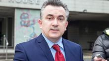 Niall Shanahan, IMPACT, briefs the media on the Lansdowne Road agreement at Lansdowne House in Dublin