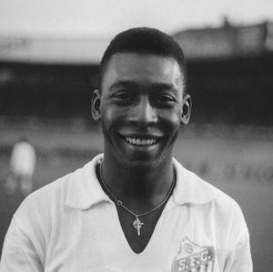 Pele in 1961 playing for Santos