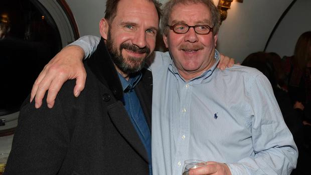 Ralph Fiennes and Michael Colgan attend Colgan's final farewell as Artistic Director of The Gate Theatre