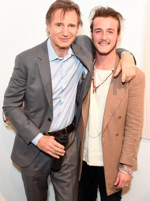 Liam Neeson (L ) and son Michael Neeson attend the Maison Mais Non launch party as Micheal Neeson launches fashion gallery in Soho on June 2, 2015 in London, England.  (Photo by David M. Benett/Getty Images for Maison Mais Non)