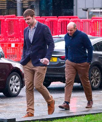 Ulster Rugby's Iain Henderson and Rory Best pictured at Laganside Magistrates Court in Belfast this morning. (Photo: Pacemaker)