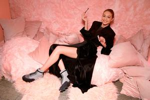 Gigi Hadid attends the Maybelline New York x V Magazine Party at the Nomo Soho Hotel on February 11, 2018 in New York City.  (Photo by Cindy Ord/Getty Images for Maybelline New York)