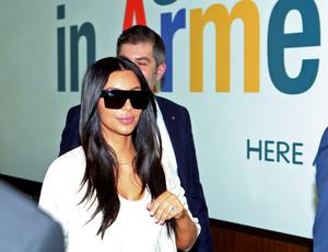 Kim Kardashian arrives in Yerevan, Armenia