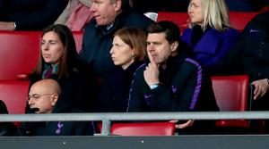 Tottenham Hotspur manager Mauricio Pochettino watches on from the stands in St Mary's Stadium, Southampton. Photo: PA