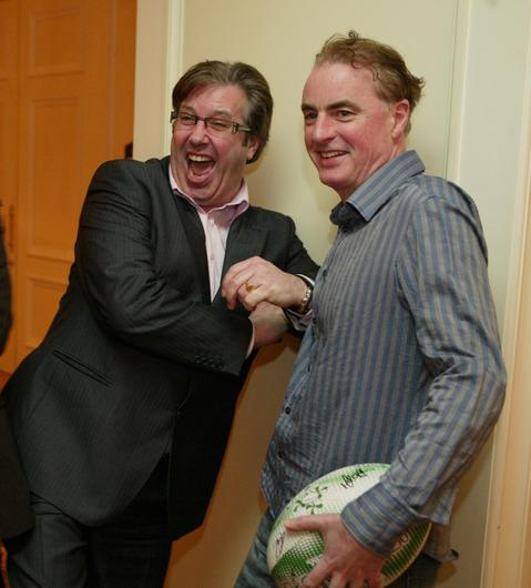Gerry Ryan and Dave Fanning  at the Four Seasons Hotel Dublin Chernobyl Children's lunch in 2007.
