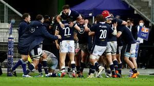 Scotland players celebrate after the match