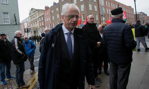 STRONG CRITICISM: Sport Ireland chief Executive John Treacy arrives at Leinster House yesterday as the FAI controversy developed new layers. Photo: Gareth Chaney, Collins