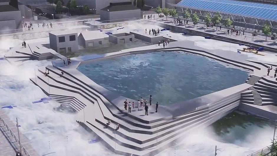 The white water rafting facility proposed for the Dublin Docklands.