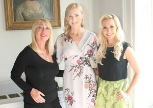 (L to R) Anne Doyle, Sarah McGovern and Emma O'Driscoll at yesterday's UNICEF lunch at The Shelbourne Hotel