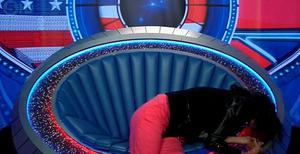 Janice Dickinson has a seizure in the Celebrity Big Brother diary room following a bee sting